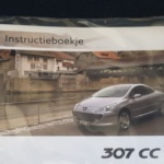 Instructieboekje Peugeot 306 cc restyling